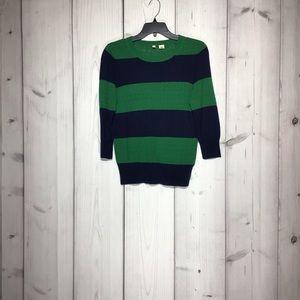 Anthropologie MothRugby Striped Sweater Sz M